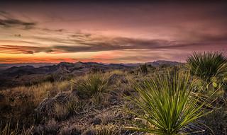 Sotol Vista Overlook Sunset North View