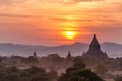 Myanmar (@lain G) Tags: sunset temple day cloudy stupa ngc myanmar asie bagan birmanie