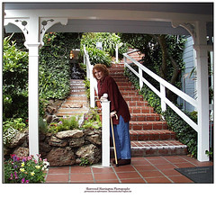 Diane at the Stairs, Casa Madrona Hotel (Sherwood Harrington) Tags: california family diane sausalito casamadrona