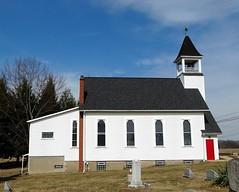 Pennsylvania | Connoquenessing (e r j k . a m e r j k a) Tags: church cemetery pennsylvania headstone steeple explore butler lutheran 1887 connoquenessing pa68 erjkprunczyk