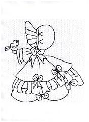 Risco para pintura ou bordado. (Casa de Bonecas Atelier) Tags: linhas pattern embroidery fios desenho pintura agulha bordado riscos moldes trabalhosmanuais sunbonnet pinturaemtecido pontoslivres bordadofeitoamao