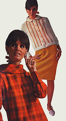 Pennys fw 66 orange knit (jsbuttons) Tags: clothing 60s buttons womens catalog 1968 cardigan sixties pennys 68 vintagefashion