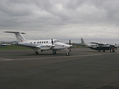 EC-KPT Beech 200 With N169WD Cessna 208 (Aircaft @ Gloucestershire Airport By James) Tags: james airport king air super 200 beech cessna lloyds 208 gloucesteshire egbj eckpt n169wd