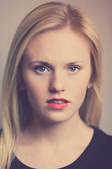 Portrait (JenAnnephotography) Tags: light portrait woman color senior girl beautiful beauty face fashion vertical female canon studio nose photo eyes pretty adult young indoor headshot lips single blonde