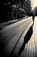 Shadow (CorH) Tags: street city portrait people urban blackandwhite bw white black monochrome blackwhite belgium belgie candid streetphotography antwerp antwerpen straatfotografie corh
