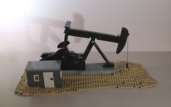Oil Pumpjack (-Mainman-) Tags: jack lego pump oil derrick pumpjack 2013 minifigscale