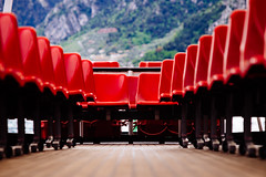 Seats (donlunzo16) Tags: trip red italy lake film boat nikon df garda chairs pack seats impressions vsco