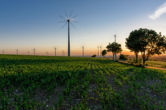 Wind-Engine & Sunset (rene.sprotte) Tags: sunset landscape multipleexposure windengine