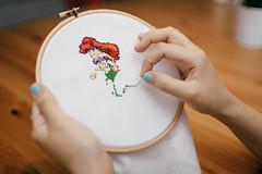 DIY: Little Mermaid cross stitching (thecatyouandus) Tags: ocean diy crossstitch crafts disney mermaid littlemermaid