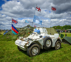 Daimler FV-700 Series Ferret Scout Car (Aultone) Tags: car ferret war peace military july scout nostalgia racecourse daimler folkestone revival the 2015 2226 aultone fv700 24455265