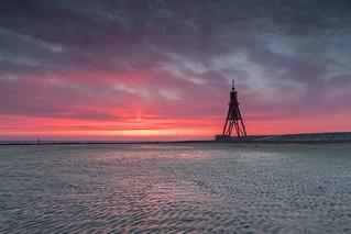 Sonnenaufgang Kugelbake Cuxhaven