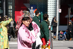 Lady from China (Canadian Pacific) Tags: toronto ontario canada canadian irish stpatricksday parade people man women woman men children bloorstreet west w avenueroad culture cultural aimg7047 chinese costumes costume traditional lady pink wushu