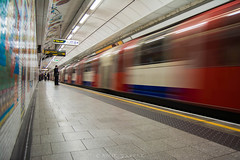 The everyday commute (amirdakkak1) Tags: tube train daytime underground london londonunderground station people human man woman weekday suit slowshutter