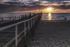 Henley Beach Sunset (red snapper 205) Tags: sunset dusk jetty pier beach sand seascape oceanscape ocean clouds horizon explore