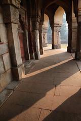 The Tomb Of Isa Khan (peterkelly) Tags: digital india asia canon 6d humayuntomb isakhantomb pillar column shadows mausoleum sunlight sun light arch archway stone delhi