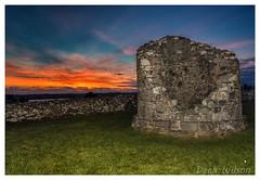 Nendrum Sunset (D.K.o.w) Tags: nendrummonastery comber strangfordlough ruins stpatrick monastery sunset canon7dmkii landscape northernireland orange blue roundtower tree maheeisland