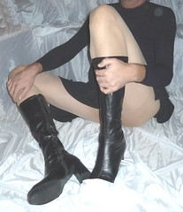 00063 (bibi anne) Tags: high heel boots tall crossdresser leotard pantyhose cd tv transvestite tranny tgirl swimsuit nylon transdgender cfm sandals skirt xdresser trans transgender tg black overknee crotch leather wetlook dress skintight skinny tight lycra spandex heels granny shoes shiny milf gogo gogoboots pvc