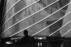 Fondation Louis Vuitton. (Aurelia Li) Tags: blackwhite louisvuitton paris museum analogue france reflection architecture dust