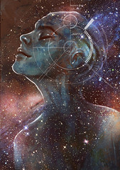 Dream voyage painting (damirmartic) Tags: sf dreams dreaming luciddream dreamer space nebula astralprojection astralworld stars fantasypainting fantasyart spiritualart spiritualpainting maleportrait maleillustration voyage dreamland astralplane newageart newagepainting