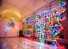 Electronic Superhighway (EDman0142) Tags: electronic superhighway nam june paik national portrait gallery washington dc art neon light