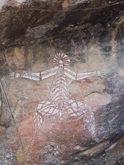 Aboriginal Rock Paintings (Jay Packer) Tags: oceania dancing rockart art paintings northernterritory australia indigenouspeoples drawings tribalart location pictographs people aboriginals ancestral ancient boogie dance dancer dancers ethnic homosapiens humans pictogram pictogramme pictograph tribe