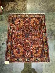 "Persian sarouk mat, 24 by 30 inches. • <a style=""font-size:0.8em;"" href=""http://www.flickr.com/photos/51721355@N02/33323814202/"" target=""_blank"">View on Flickr</a>"