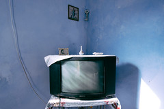 television (19seconds) Tags: screen television tv retro crt sony old wall blue indoor nikon20mmf18 greece