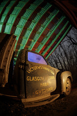 Glasgow Farm Truck Redux IV (Notley Hawkins) Tags: rural missouri notley notleyhawkins 10thavenue httpwwwnotleyhawkinscom missouriphotography notleyhawkinsphotography lightpainting bluelight greenlight blue green night nocturne 光绘 光繪 lichtmalerei pinturadeluz ライトペインティング प्रकाशपेंटिंग ציוראור اللوحةالضوء abandoned longexposure ruralphotography chartitoncountymissouri red redlight rgb outdoor 2017 riverbottoms missouririverbottoms truck farmtruck chevrolet march garage shed fisheye