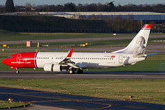 Norwegian B737 (Martyn Cartledge / www.aspphotography.net) Tags: 737 aerodrome aeroplane air aircraft airline airliner airplane airport aspphotography aviation b737 bhx birmingham boeing cartledge civilairline civilairliner eifjy flight fly flying jet martyn norwegian plane runway transport wwwaspphotographynet uk asp photography flywinglets