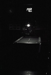 Old Point Pool (Sean Davis) Tags: olympusxa abita algierspoint louisiana oldpointbar beer billiards film neon pooltable