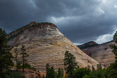 Checkers Anyone? (EricGail_AdventureInFineArtPhotography) Tags: canon zionnationalpark checkerboardmesa utah cloudy stormy landscape zion