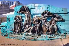 Meerkat Art (Nick Fewings 5 Million Views) Tags: scrap clever creative unusual 7d canon parts car metal van urbanart urban art meerkats nickfewings downtown usa nevada lasvegas