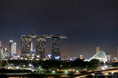 Marina Bay At Night (Christian Sedlak) Tags: asia asien singapore singapur marina bay sands garden by the night nacht light show lichtshow super trees colors colours farben