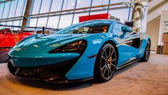 2017 McLaren 570S Coupe (Sworldguy) Tags: vancouver autoshow display reflections exotic mclaren 570s fistralblue twinturbo 38litre car sportscar