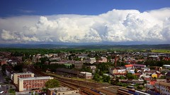 Olomouc (radimersky) Tags: city railroad blue sky panorama white clouds lens landscape four lumix spring europa europe cityscape republic czech may panasonic filter micro 17 pancake 20mm tory 43 thirds maj republika wiosna olomouc miasto moravia polarizing niebieskie chmury niebo czechy czeska biae krajobraz esk linia olmtz 1920x1080 kolejowa oomuniec morawy polaryzacyjny dmcgf1 weduta