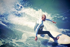 Surfer at Huntington Beach (Brian A Petersen) Tags: california ca blue beach sports wet water sport canon sand surf waves surfer board wave spray wax orangecounty athlete huntingtonbeach wetsuit active ripcurl mkiii brianpetersen 5dmk3 bap6381