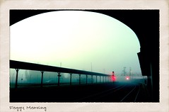 Foggy Morning (Yum Studio) Tags: station weather fog train east ballarat