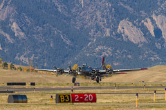 IMG_5743.jpg (waite767) Tags: airplane colorado unitedstates aviation wwii airplanes places historic b17 transportation bomber warbird aluminumovercast broomfield militaryaircraft 2011 wwiiwarbird dateyear rockymountainregionalairport