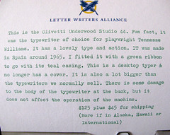 olivetti underwood text (donovanbeeson) Tags: typewriter vintage typewriters olivetti underwood greentypewriter portabletypewriter vintageofficesupply