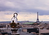 Urban story, Paris (EXPLORE 02-07-2013) (pinkpixel (Slava)) Tags: roof sky urban paris france rooftop skyline clouds europe day view cloudy towers eiffeltower overcast observe innercity chimneys slava observationdeck top20flickrskylines daystory canon5dmarkii daypanorama svetoslavaslavova