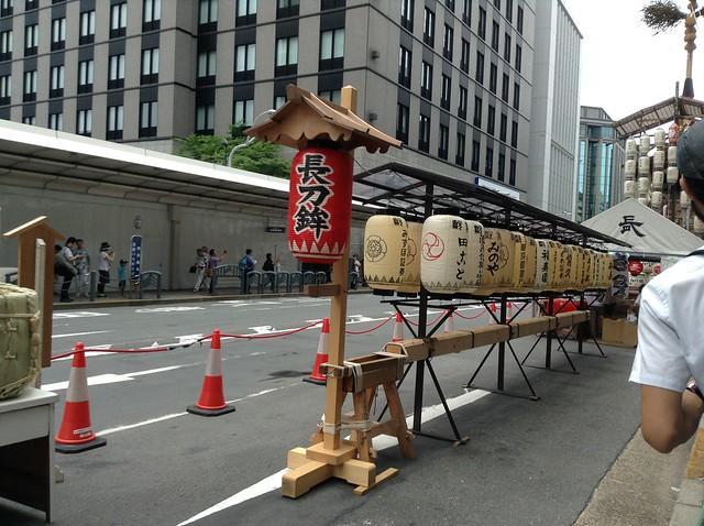 先頭方面から見た長刀鉾。|祇園祭宵山