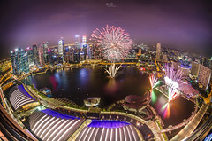 Amazing City Amazing Fireworks (RnD.de.Portraits) Tags: city building night skyscraper singapore cityscape nightshot fireworks central business esplanade highrise ndp cbd mbs ocbc citylight skypark uob nationaldayparade maybank flickrfinds singaporeflyer marinabaysands randytan standardchatered rnddeportraits ndpfireworks2013 ndpfireworkssingapore2013 ndpsingapore2013