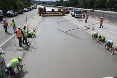 Laying out the big smooth (WSDOT) Tags: i405 bellevue wsdot concretepanelreplacement