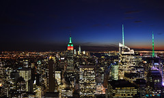 City of Blinding Lights Pt. V (Alonso Reyes) Tags: world new york city nyc winter sunset usa ny building rock skyline night america square lights one state top manhattan infinity united center illuminated empire blinding times rockefeller trade stated