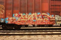 SOKE (The Braindead) Tags: art minnesota train bench photography graffiti painted tracks minneapolis rail explore beyond the