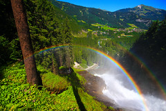 two rainbows over Krimml falls - Austria (3) - Explored - 15th August, 2013 (Lior. L) Tags: wood trees two sky 3 color tree salzburg green nature water canon landscape austria waterfall rainbow whitewater colours over sigma falls explore rainbows dslr canondslr krimml 2rainbows sigma1020 5photosaday explored canon600d canont3i canonkiss5 salzburgtop7
