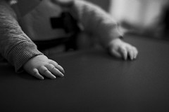 mia's hands (gorbot.) Tags: blackandwhite hospital mia canoneos5d carlzeisszf50mmplanarf14