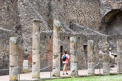 Pompeii (Crumblin Down) Tags: cruise light red italy house rome roma home painting volcano drive coast mural ruins paint italia mt mosaic district mount pompeii naples positano vesuvius column vesuvio erupt eruption amalfi pompei brothel