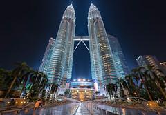 Metallica (Raymond Yk Choong) Tags: city architecture skyscraper silver high amazing malaysia twintowers kualalumpur klcc metals petronastwintowers
