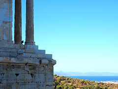 Tones of Blue (Shungo.a.Lie) Tags: sky temple athens worldheritagesite greece ep2 acropolisofathens
